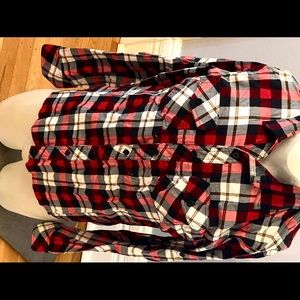 RUDE Plaid Long Sleeve Button Up Shirt